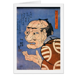 Face Made of Bodies Kuniyoshi Japanese Fine Art Card