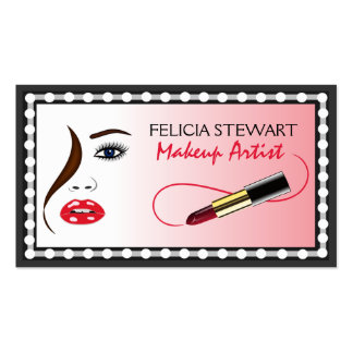 Face Makeup Artist Cosmetologist Business Cards Business Card Template