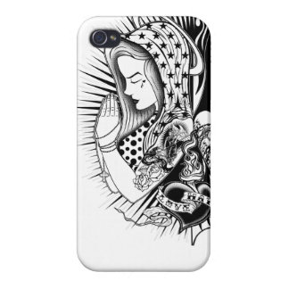 Face marries for Iphone Blessoul Double iPhone 4 Cover