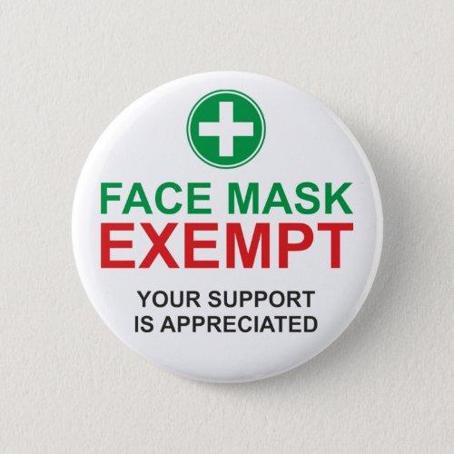 Face Mask Exempt Button