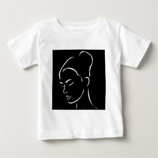 Face of a beautiful young woman baby T-Shirt