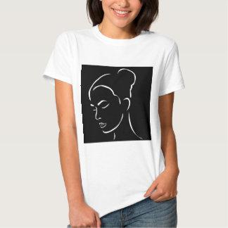 Face of a beautiful young woman shirt