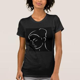 Face of a beautiful young woman tee shirt
