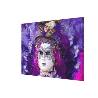 Face Of A Carnival Costume, Venice Canvas Print