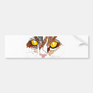 Face of a Cat - Cat Eyes CricketDiane Art Car Bumper Sticker