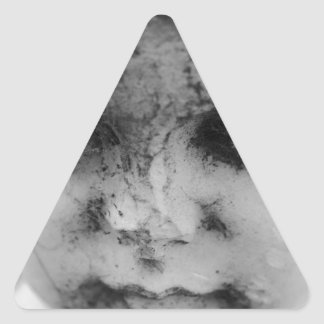 Face of a cherub triangle sticker