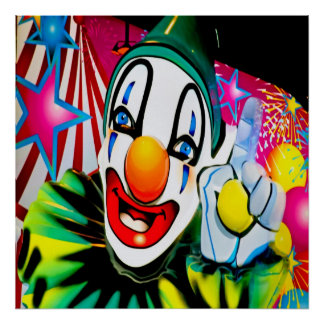 Face of a Clown Poster