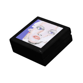 Face of a Girl with Blue Eyes Gift Box