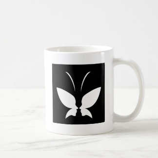 Face of a lady and butterfly coffee mug