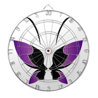 Face of a lady and butterfly dartboard