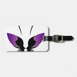 Face of a lady and butterfly luggage tags