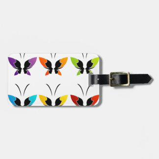 Face of a lady and butterfly tags for bags
