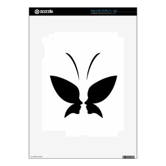 Face of a lady and butterfly iPad 2 skin