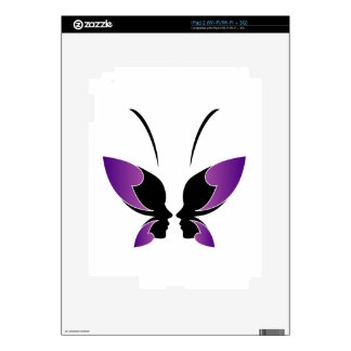 Face of a lady and butterfly decal for the iPad 2
