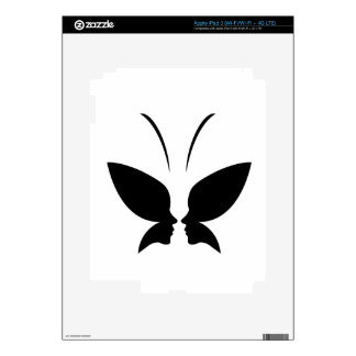 Face of a lady and butterfly decals for iPad 3