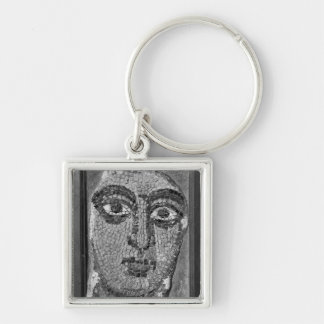 Face of a lady from the Church of St-Ambrosius Silver-Colored Square Keychain