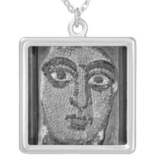 Face of a lady from the Church of St-Ambrosius Square Pendant Necklace