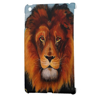 Face of a lion realistic painted iPad mini cases