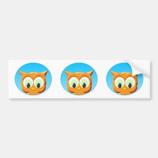 Face Of A Little Owl Bumper Sticker