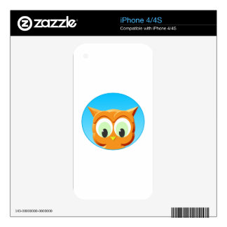 Face Of A Little Owl iPhone 4 Decal