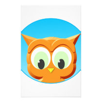 Face Of A Little Owl Stationery