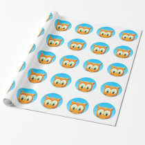 Face Of A Little Owl Wrapping Paper