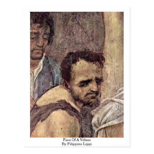 Face Of A Villain By Filippino Lippi Postcard