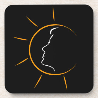 Face of a woman in the sun- showing tanning drink coaster