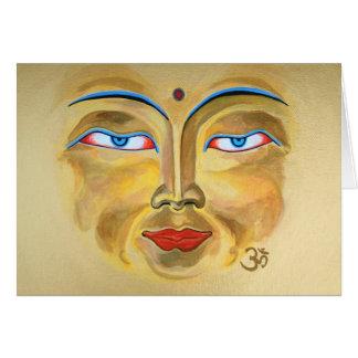 """""""Face of Buddha"""" Card"""