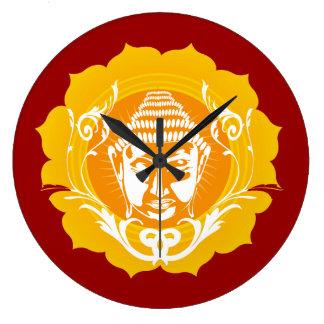 Face of Buddha Large Clock