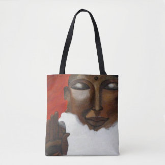 Face of Buddha on clouds in the sky Tote Bag