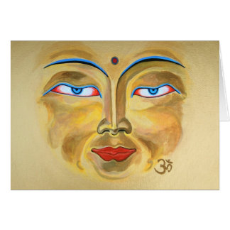"""""""Face of Buddha"""" Stationery Note Card"""