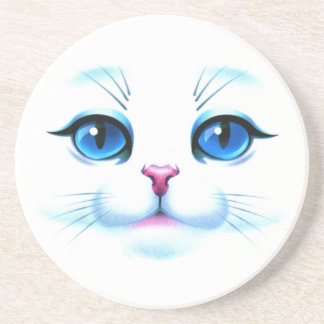 Face of cat drink coasters