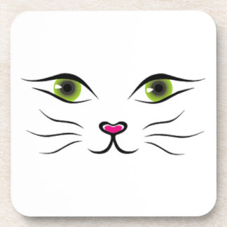 Face of cat coasters