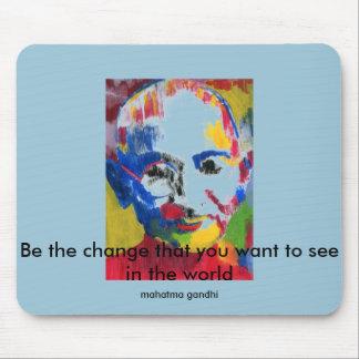 Face of Colors Mahatma Gandhi Mousepad