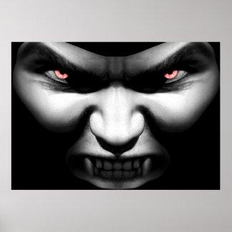 Face of Evil Vampire Poster Print print