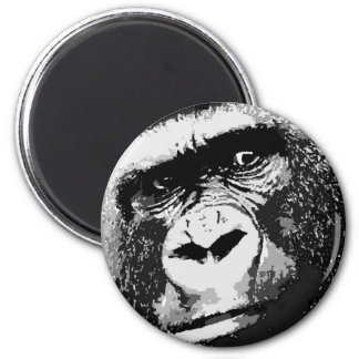 Face of Gorilla 2 Inch Round Magnet