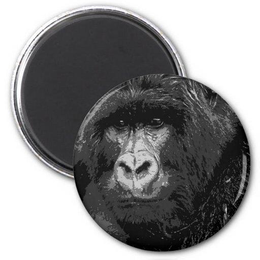 Face of Gorilla Fridge Magnet