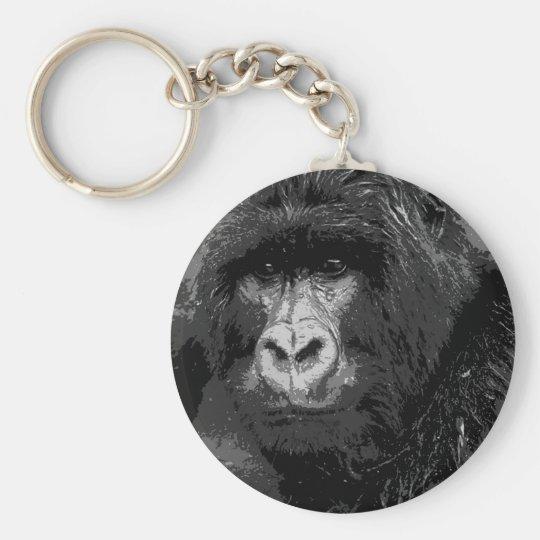 Face of Gorilla Keychain