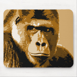 Face of Gorilla Mouse Pad