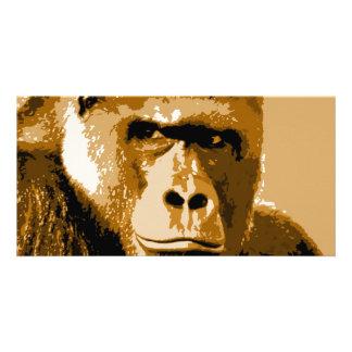 Face of Gorilla Photo Card