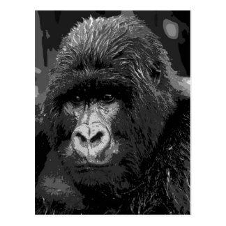 Face of Gorilla Post Card