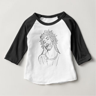 Face of Jesus crown of thorns Baby T-Shirt