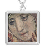 Face of Mary Square Pendant Necklace