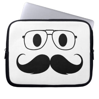 face of mustache computer sleeve