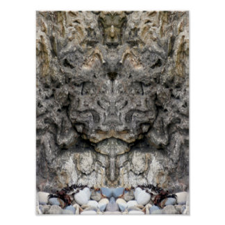 Face of Nature `Rock Face' Poster