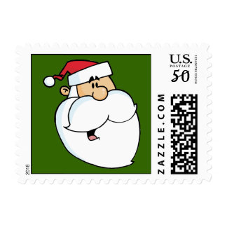 Face of Santa Postage Stamps (SMALL)