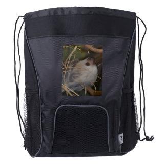 Face of Sloth Drawstring Backpack