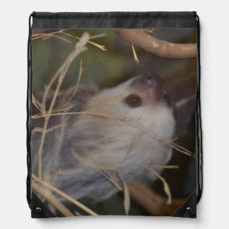 Face of Sloth Drawstring Bag