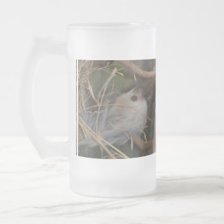 Face of Sloth Frosted Glass Beer Mug